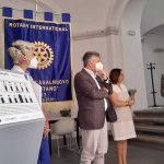 """Il Rotary Club Acerra-Casalnuovo """"A.Montano"""" dona  il primo pannello tattile con iscrizioni in Braille installato a Palazzo Salerno Lancellotti"""